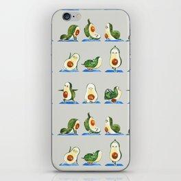 Avocado Yoga Watercolor iPhone Skin