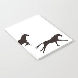 a horse runs Notebook
