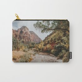 Zion Canyon National Park / Virgin River / Utah Carry-All Pouch