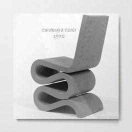 Cardboard Chair  Metal Print
