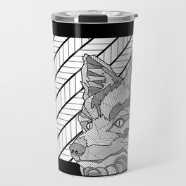 Modern Art Fox Travel Mug