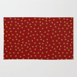 Acorn Pattern-Sangria Rug