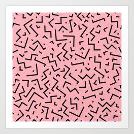 Memphis pattern 34 Art Print