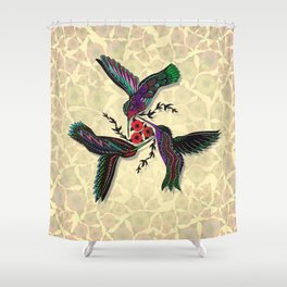 DANCING HUMMERS Shower Curtain