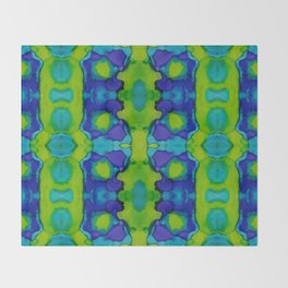Purple and green dreams Throw Blanket