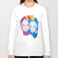 sisters Long Sleeve T-shirts featuring Sisters by Caitlyn Murphy