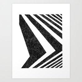 BLACK WHITE GEOMETRIC 10 Art Print