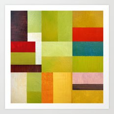 Color Study Abstract 9.0 Art Print