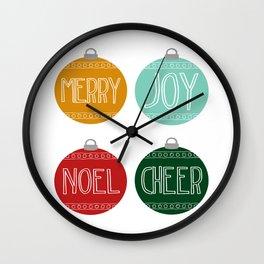 Midcentury Modern Ornaments Wall Clock