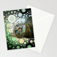 cat dreamy Stationery Cards