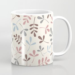 Assorted Leaf Silhouettes Pastel Colors Coffee Mug