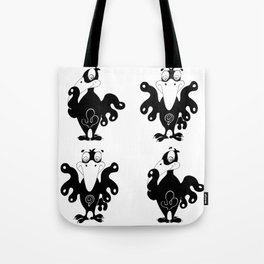 Volte-face again Tote Bag
