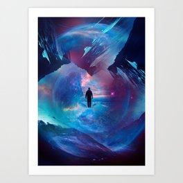 I am tired of earth Dr manhattan Art Print