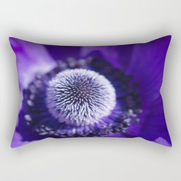 Purple Anemone De Caen Rectangular Pillow