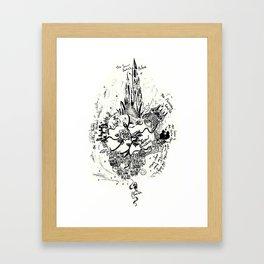 The Snow Queen // Black& White Framed Art Print