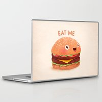 burger Laptop & iPad Skins featuring Burger by Lime