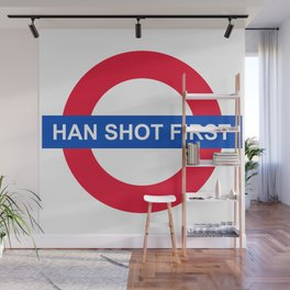 Han Shot First Wall Mural