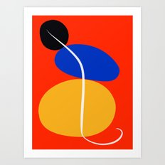 Red Zen Minimal Abstract Art Print