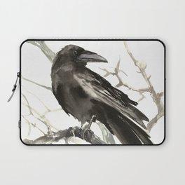 Raven on the Tree Laptop Sleeve