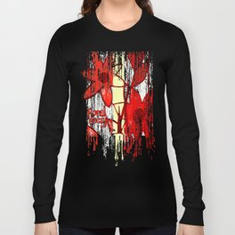 Red Floral Decay Long Sleeve T-shirt