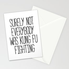 Kung Fu Fighting Stationery Cards