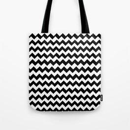 Imperfect Chevron - Black Tote Bag