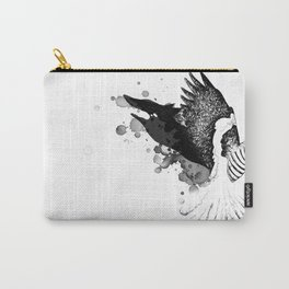Black Fox winged Magpie Carry-All Pouch