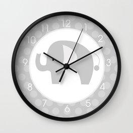 Mod Gray Elephant Wall Clock