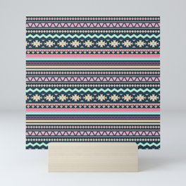 Colorful Aztec Tribal Pattern Mini Art Print