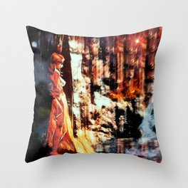 Djinni: Fire Throw Pillow