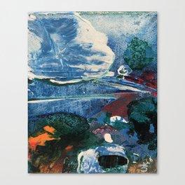 Mini World Environmental Blues 2 Canvas Print