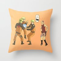 naruto Throw Pillows featuring Naruto Science by Solidus