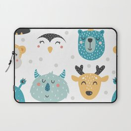 Baby Animals - Fantasy and Woodland Creatures Pattern Laptop Sleeve