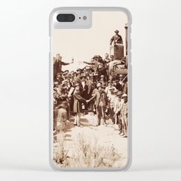 Transcontinental Railroad - Golden Spike Ceremony Clear iPhone Case
