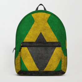 Jamaican flag, Vintage retro style Backpack