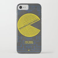 pac man iPhone & iPod Cases featuring Pac-Man Typography by Kody Christian