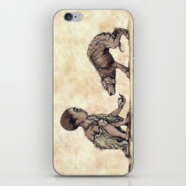 Boy and Puppy iPhone Skin