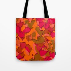red camouflage Tote Bag