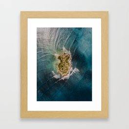 Flat Island Framed Art Print
