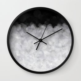 Snow Clouds in the Dark - Abstract Wall Clock