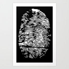 FINGERPRINT POLICE CRIME DETECTIVE THRILLER CRIMINAL MURDER CSI Art Print