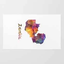 Zambia in watercolor Rug