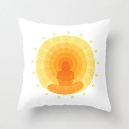 Shiny mandala Throw Pillow
