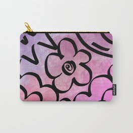 Flower Patch Watercolor Carry-All Pouch