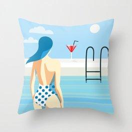 Summer queen Throw Pillow