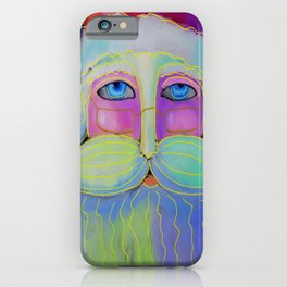 Psychedelic Santa Abstract Digital Painting  iPhone Case