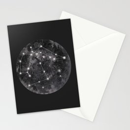 Constellation Black Stationery Cards