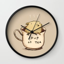 Pup of Tea Wall Clock