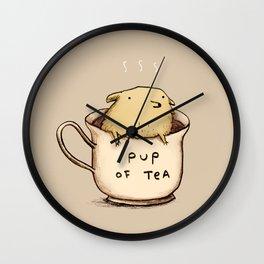 Pup of Tea Wall Clock