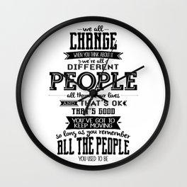 Doctor Who - We All Change Wall Clock